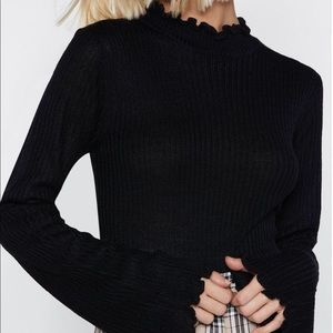 Nasty Gal Ruffle Around The Edges High Neck Top